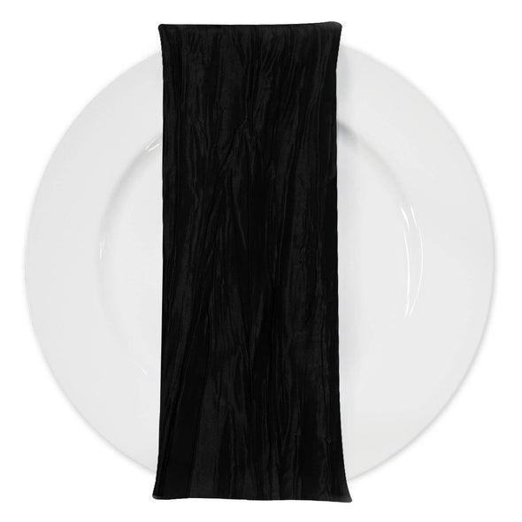 Accordion Taffeta Table Napkin in Black