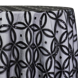 Delano Sequins Table Linen in Black