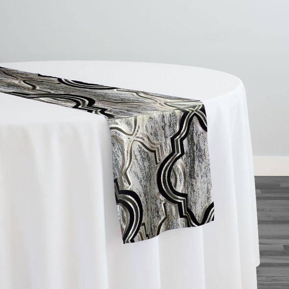 Bentley Jacquard Table Runner in Black