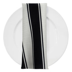 Cabana Stripe Table Napkin in Black