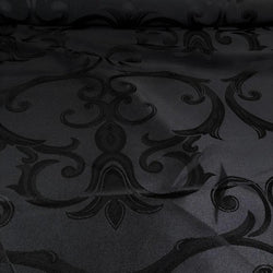 Chopin Jacquard Table Runner in Black