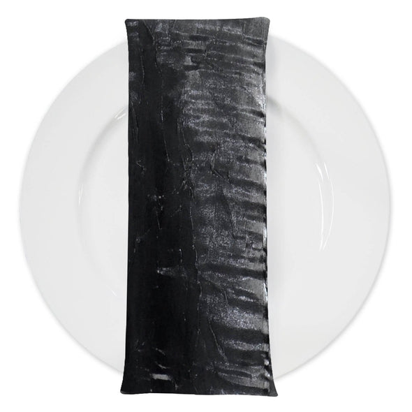 Crush Shimmer (Galaxy) Table Napkin in Black