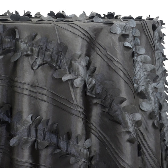 Diagonal Taffeta Table Linen in Black