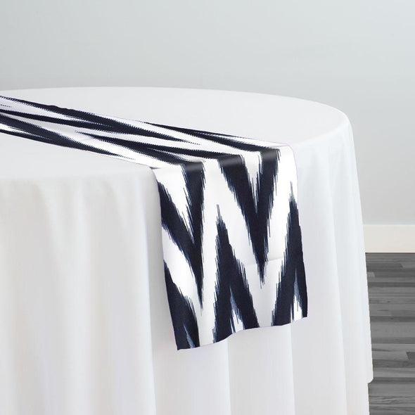 Horizon Poly Print Table Runner in Black
