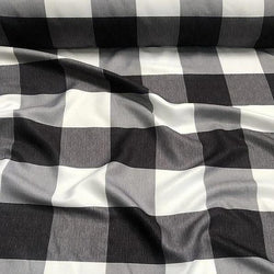 Hampton Checker (Poly Print) Table Runner in Black