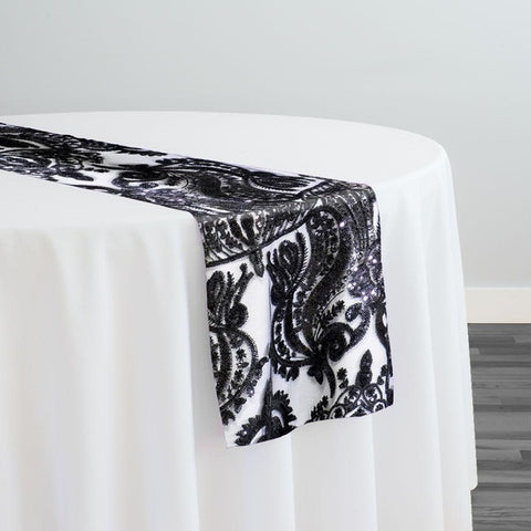 Princess Lace Table Runner in Black