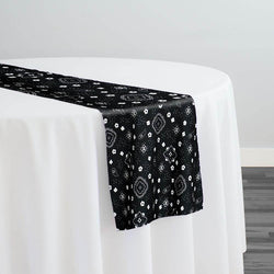 Bandana Print Table Runner in Black