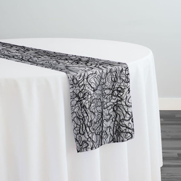 Bedazzle Table Runner in Black