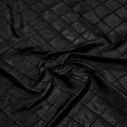 "2"" Pintuck Taffeta Table Linens in Black"