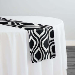Groovy Print (Lamour) Table Runner in Black