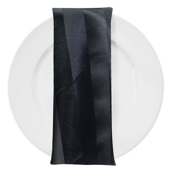 Imperial Stripe Table Napkin in Black