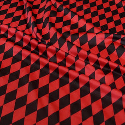 Harlequin Print (Lamour) Table Linen in Black and Red