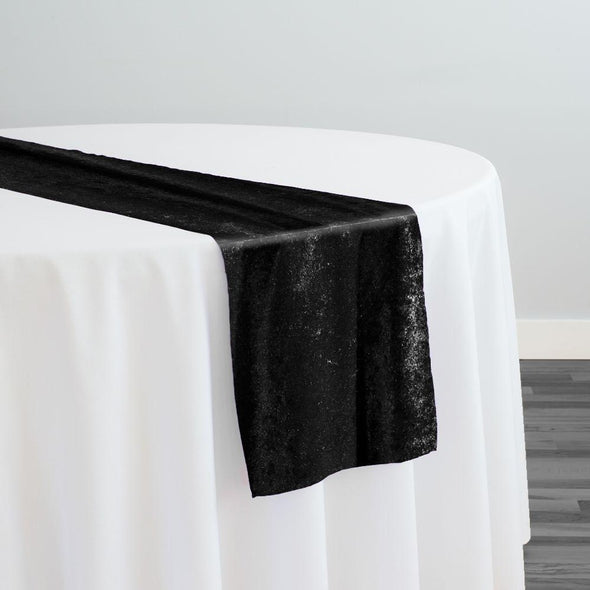 Lush Velvet Table Runner in Black