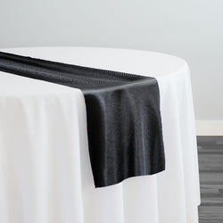 Imitation Burlap (100% Polyester) Table Runner in Black