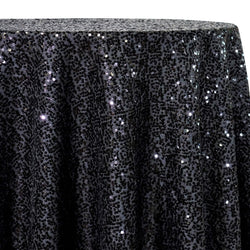 Taffeta Sequins Table Linen in Black