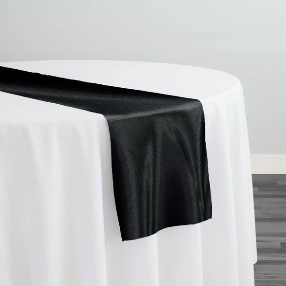 Luxury Satin Table Runner in Black
