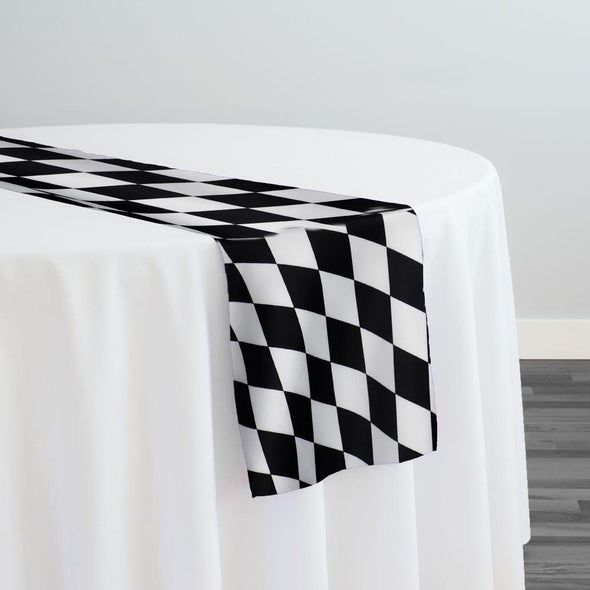 Harlequin Print (Lamour) Table Runner in Black
