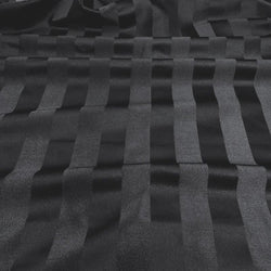 Imperial Stripe Table Linen in Black