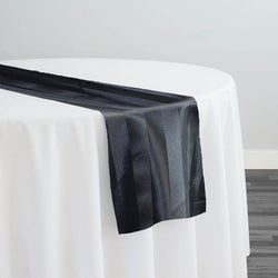 Imperial Stripe Table Runner in Black