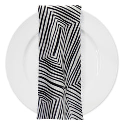 Modena (Poly Print) Table Napkin in Black