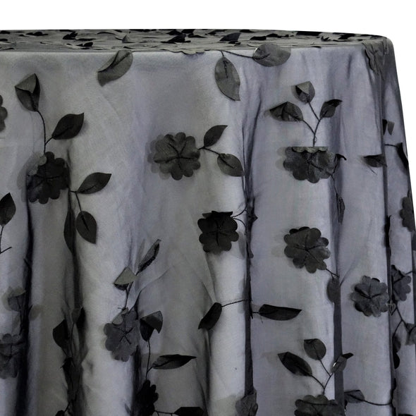 Lily Petal Table Linen in Black