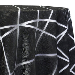 Atlas Sheer Table Linen in Black