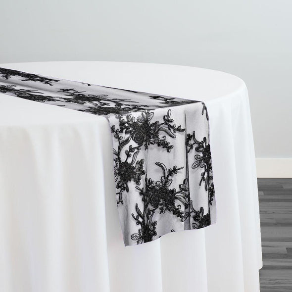 Laylani Lace Table Runner in Black