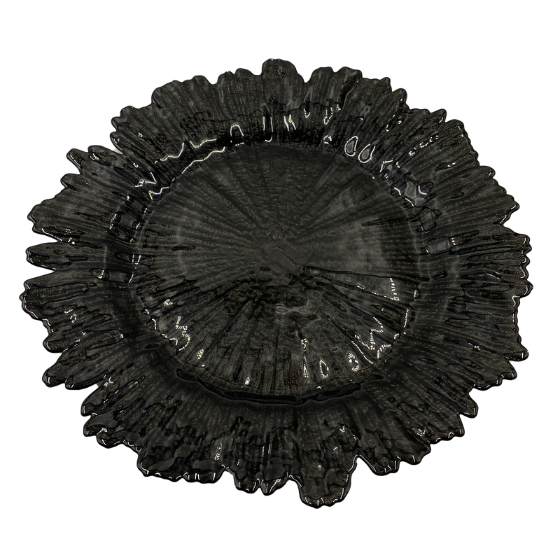 Reef - Glass Charger Plate in Black