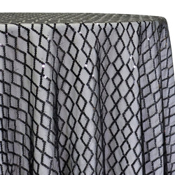 Vortex Sequins Table Linen in Black