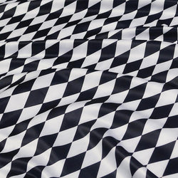 Harlequin (Lamour Print) Table Napkin in Black