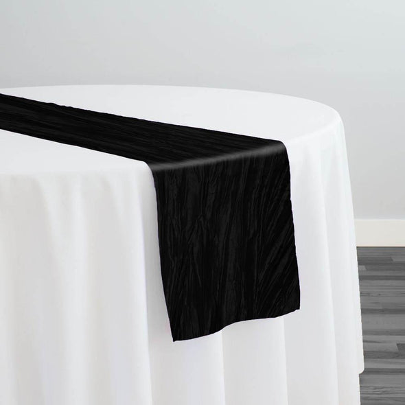 Accordion Taffeta Table Runner in Black