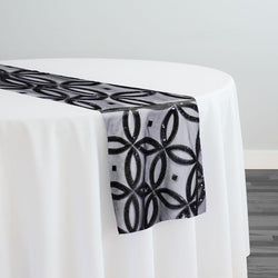 Delano Sequins Table Runner in Black