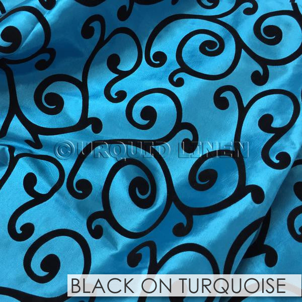 BLACK ON TURQUOISE