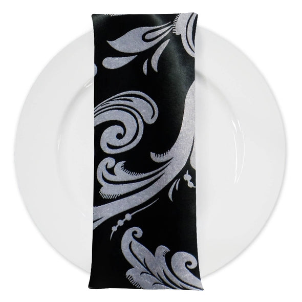Regal Jacquard (Double-Sided) Table Napkin in Black