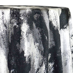 Element Jacquard Table Linen in Black and Silver