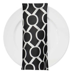 Halo Print Lamour Table Napkin in Black and White