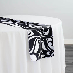 Abstract (Pucci) Table Runner in Black and White
