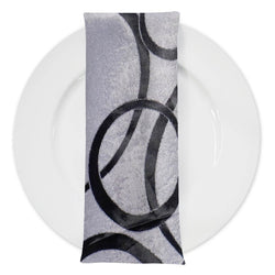 Cirque Jacquard (Double-Sided) Table Napkin in Black