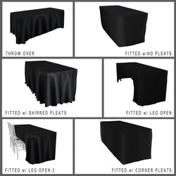 Lamour (Dull) Satin Banquet Fitted Tablecloths - Hospitality Line