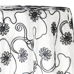 Eyelash Embroidery Table Linen in Black and White