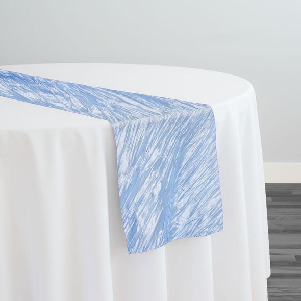 Accordion Taffeta Table Runner in Blue