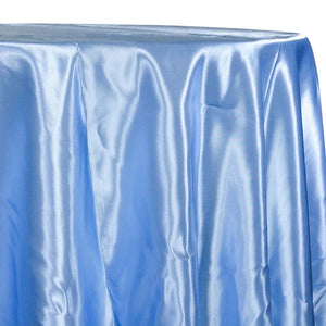 Bridal Satin Table Linen in Blue 120