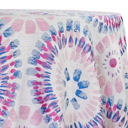 Sundaze Jacquard (Reversible) Table Linen in Fuchsia and Blue