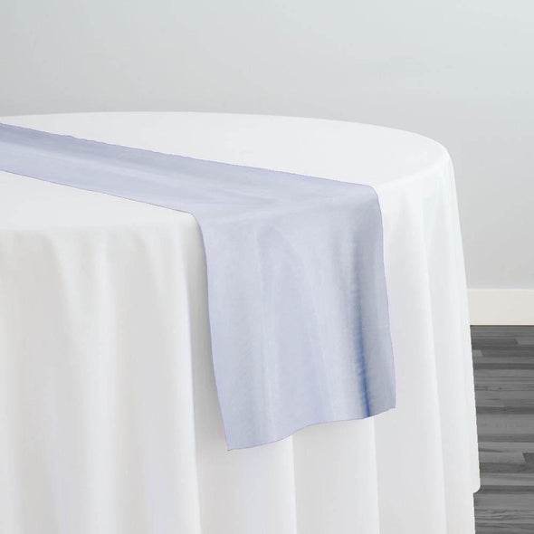 Crystal Organza Table Runner in Blue D 208