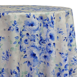 Blue Flora (Poly Print) Table Linen