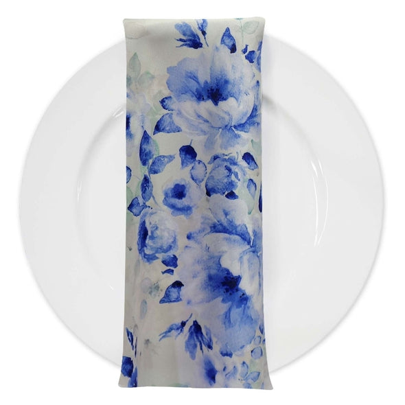 Blue Flora (Poly Print) Table Napkin