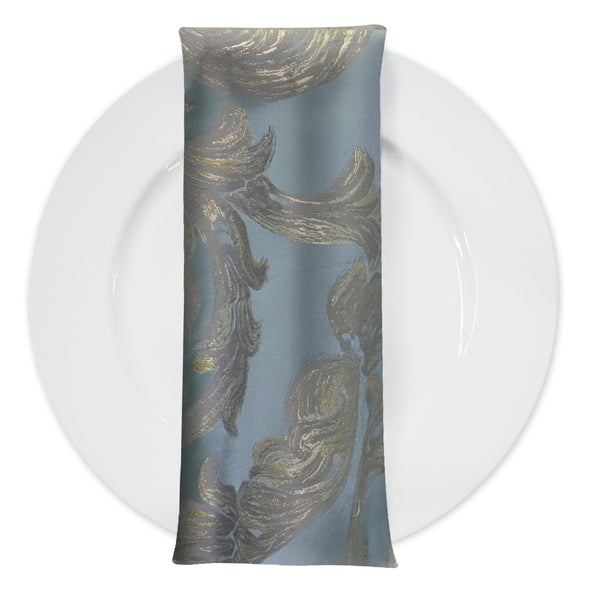 Florence Jacquard Table Napkin in Blue