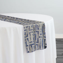 Gio Jacquard Table Runner in Blue