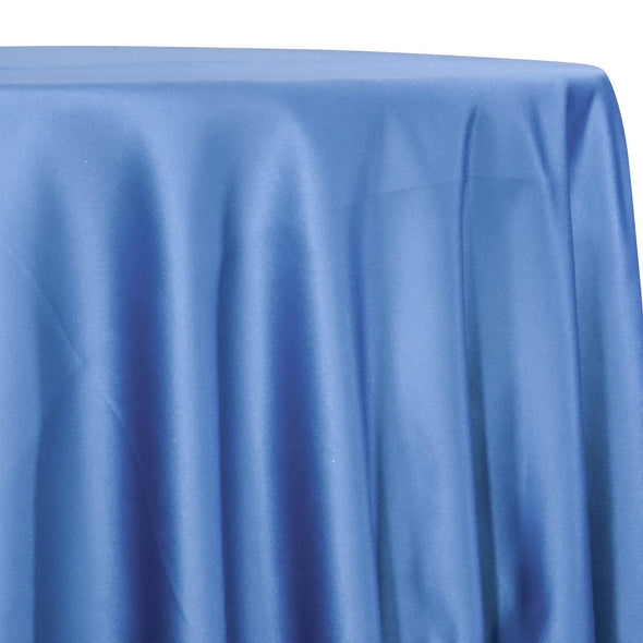 Lamour (Dull) Satin Table Linen in Blue 1122