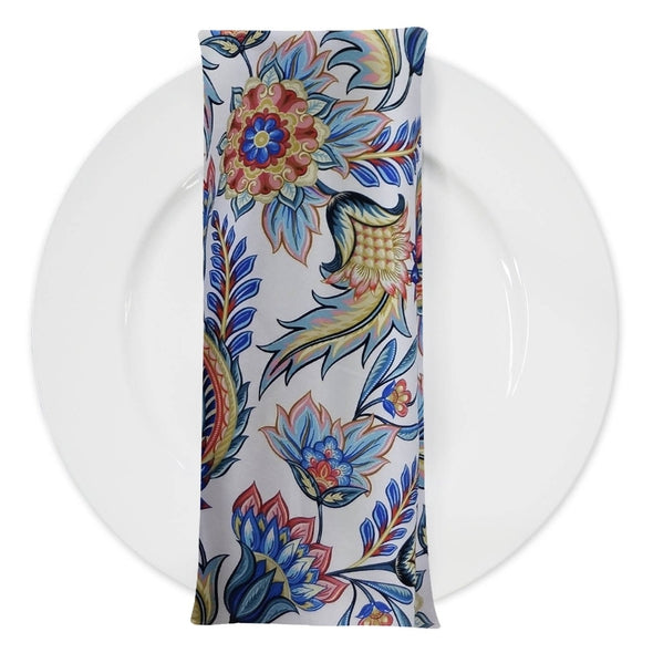 Asian Paisley (Dupioni) Table Napkin in Blue